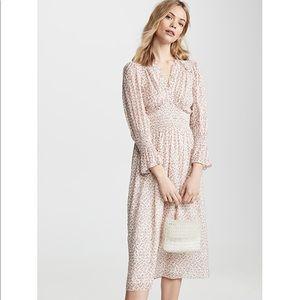 Rebecca Taylor Francesca V Neck Silk Dress